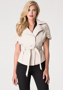 bebe Taryn Leather Trench Jacket