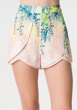bebe Print Dolphin Front Shorts
