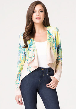 bebe Falling Pleat Jacket
