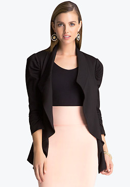 bebe Ponte Waterfall Jacket