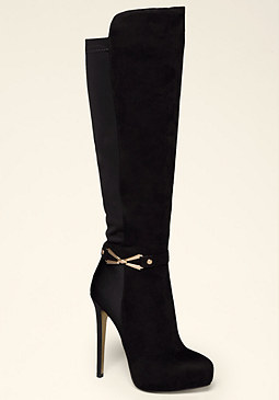 bebe Melinda Back Stretch Boots