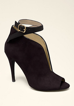 bebe Linette Open Toe Booties
