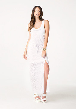 bebe Logo Zigzag Maxi Dress