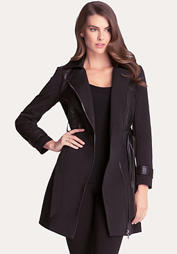 bebe Slash Accent Trench Coat