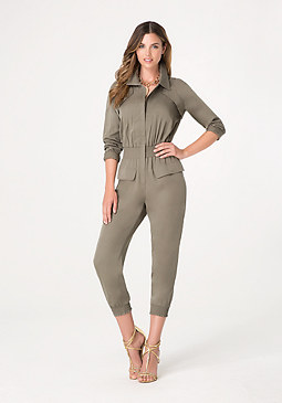 bebe Cargo Pocket Jumpsuit