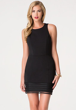 bebe Trim Detail Dress