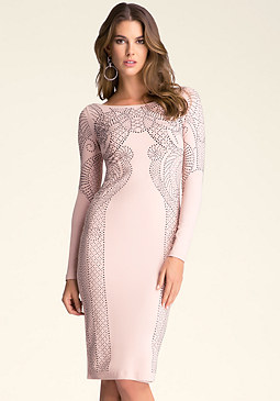 Petite Embellished Dress at bebe