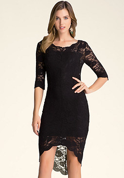 bebe Petite Lace Dress