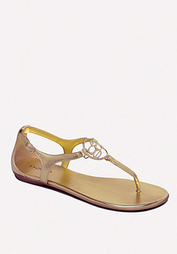 bebe Brielle Logo Flat Sandals