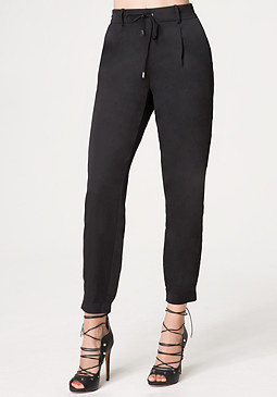bebe Silk Jogger Pants
