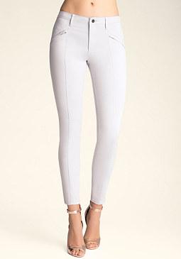 bebe Quilted Skinny Pants