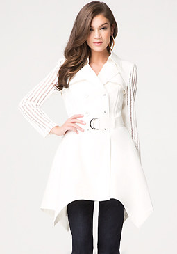 bebe Sleeve Detail Trench Coat