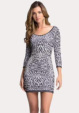 bebe Animal Jacquard Dress