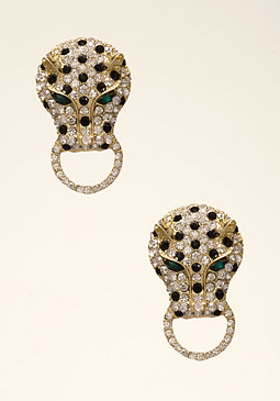 bebe Cougar Statement Earrings