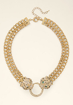bebe Cougar Statement Necklace