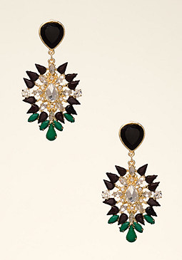 bebe Teardrop Crystal Earrings