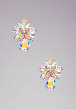 bebe Floral Clip-On Earrings