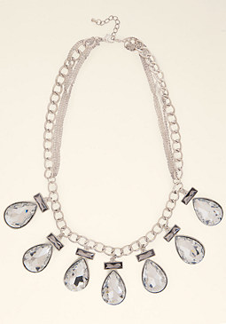 bebe Multi-Drop Station Necklace