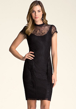 bebe Lace & Sead Bead Dress