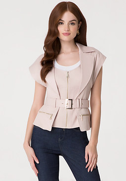 bebe Kelly Shimmer Canvas Jacket