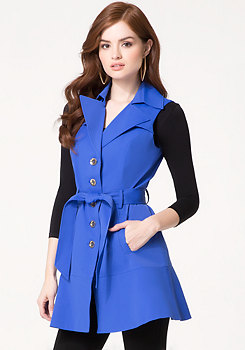 bebe Sleeveless Trench Coat