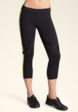 bebe Colorblock Capri Pants