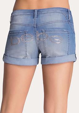 bebe Logo Cuffed Shorts