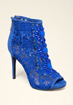 bebe Amee Beaded Crochet Booties