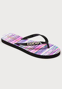 bebe Tan Lines Low Flip Flops