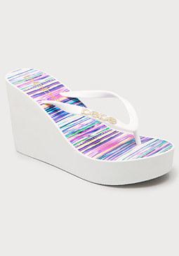 bebe Tan Lines High Flip Flops