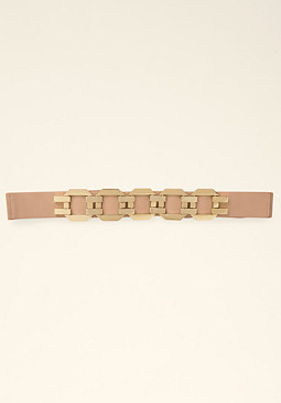 bebe Metal Octagon Stretch Belt