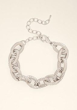 bebe Chainlink Crystal Bracelet