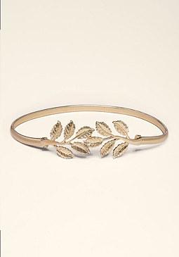 bebe Leaf Snake Chain Belt