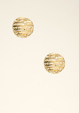 bebe Etched Circle Stud Earrings