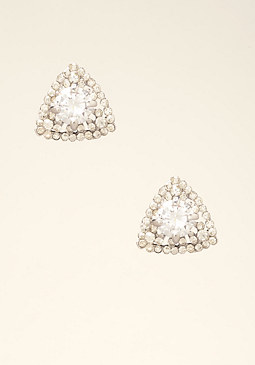 bebe Triangular Stud Earrings