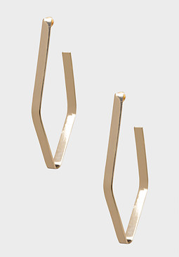 bebe Thin Oval Hoop Earrings