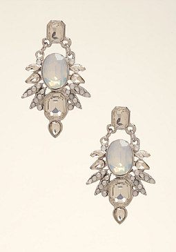 bebe Opal Stone Petal Earrings