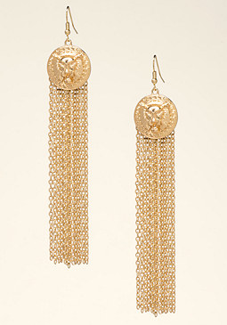 bebe Lion & Chain Earrings