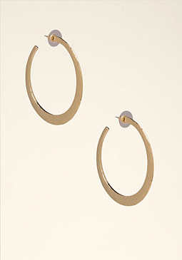 Textured Hoopl Earrings at bebe