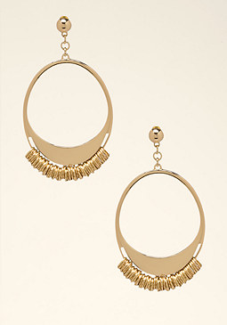 bebe Ringed Hoop Earrings