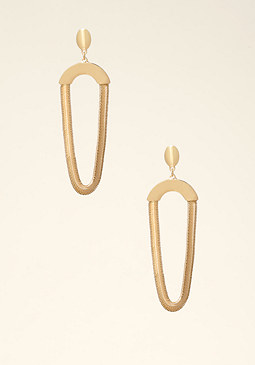 bebe Snake Chain Draped Earrings