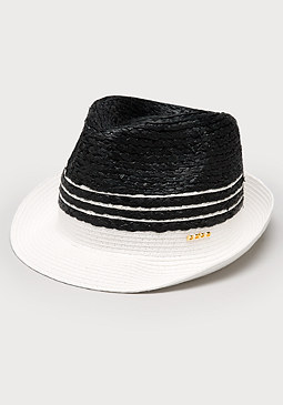 bebe Striped Colorblock Trilby