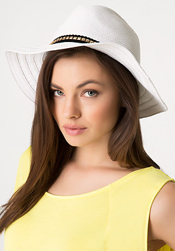 bebe Studded Band Panama Hat