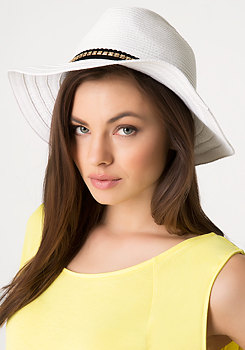 bebe Studded Band Panama Hat