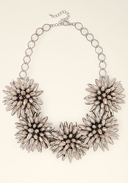 bebe Flower Statement Necklace