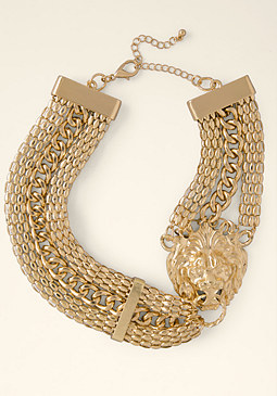 bebe Lion Door Knocker Necklace