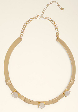 bebe Pyramid Collar Necklace