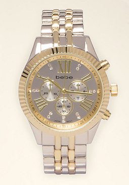 bebe Textured Boyfriend Watch