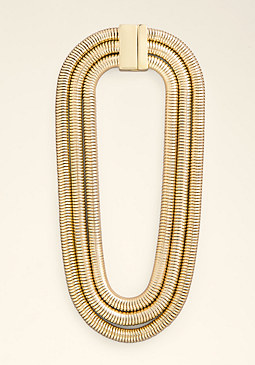 bebe Coil Wrapped Short Necklace