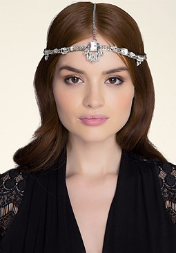 bebe Jeweled Chainlink Headpiece